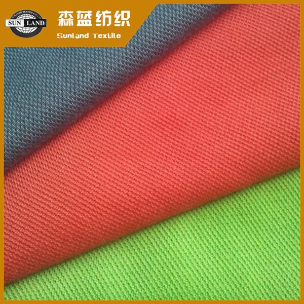 全涤纱防静电珠地布 Spun polyester antistatic pique