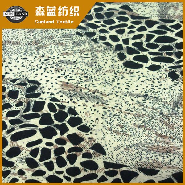印花弹力保暖绒