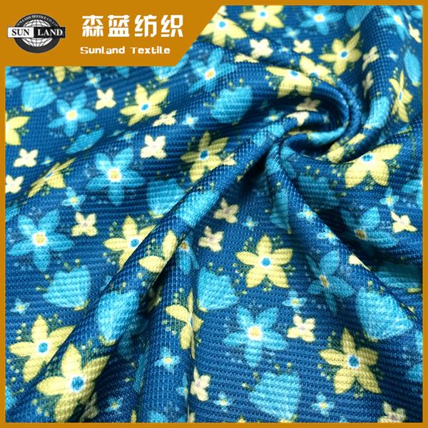 印花楼梯布 Printing spandex ottoman fabric