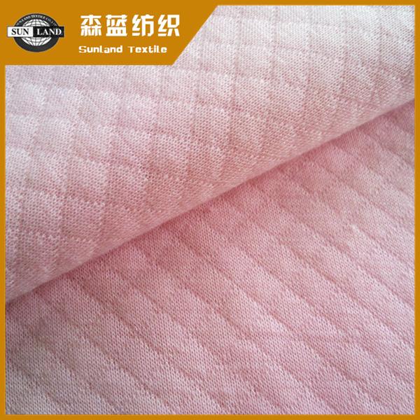 CVC提花空气层 Polyester cotton jacquard fabric