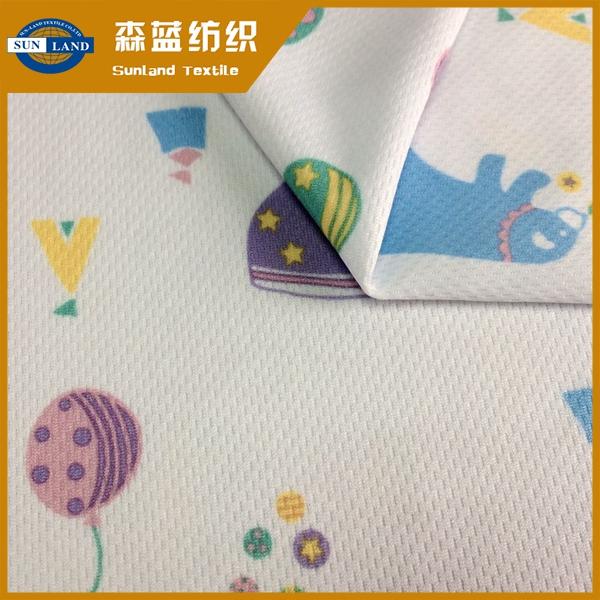 卡通印花鸟眼布 Quick dry carton printed birdeye mesh