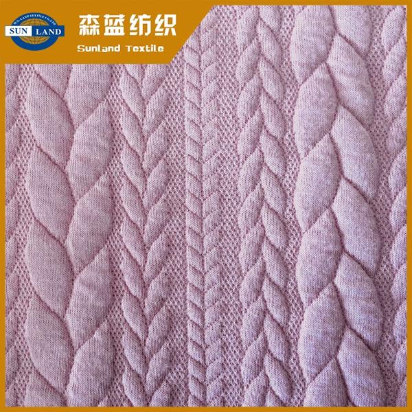 麦穗提花空气层 Jacquard interlock fabric