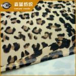 豹纹印涤氨汗布
