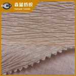 阻燃提花横条泡泡布 Fire retardant jacquard interlock