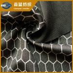 烫银涤氨罗马布 Silver print polyester spandex interlock