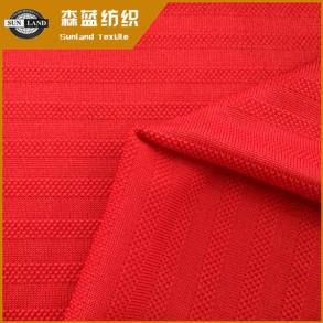 速干横条汗布 Dry fit horizon polyester pique jersey