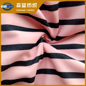 印花丝盖棉 printed polyester cover cotton jersey