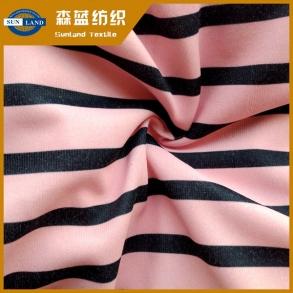 印花丝盖棉 printed polyester cover cotton jersey