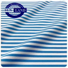 JS067-CD彩条针织涤氨汗布 时尚潮流海魂衫高尔夫衫
