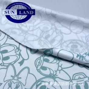 FC001印花用漂白色 吸水整理 全涤针织鸟眼布 三级网眼米通布