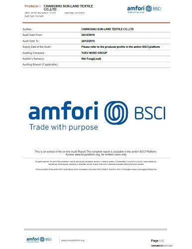 BSCI 社会责任验厂认证